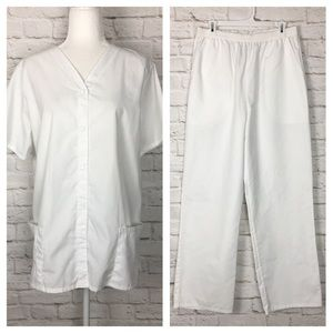 SB Scrubs | Scrub Uniform Set White Large
